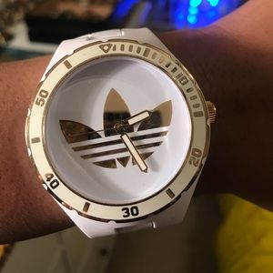 Adidas analog watch (white & gold)